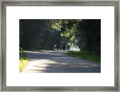 Framed Print featuring the photograph Biking by Michael Albright