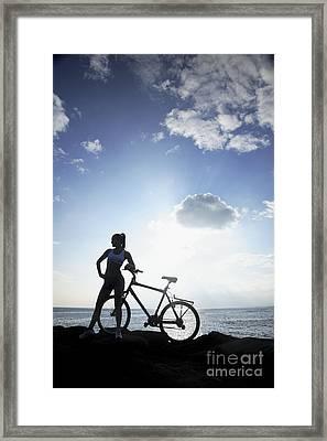 Biking Silhouette Framed Print by Brandon Tabiolo - Printscapes