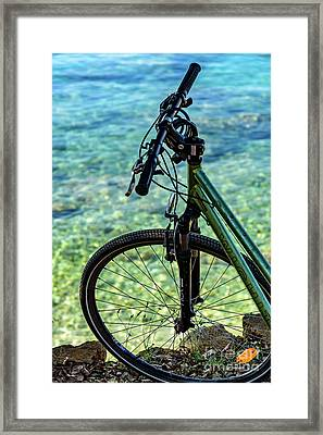 Biking The Rovinj Coastline - Rovinj, Istria, Croatia Framed Print