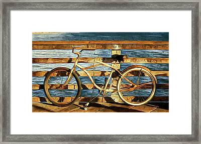 Biking To The Beach Framed Print
