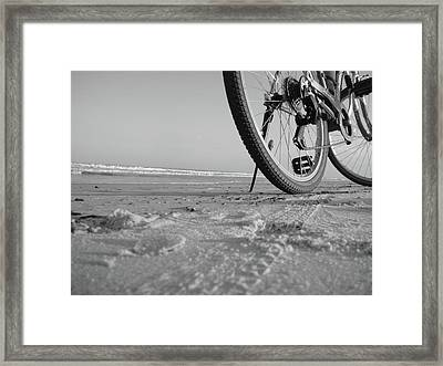 Biking To The Beach Framed Print