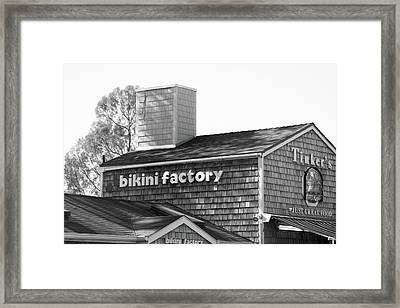 Bikini Factory - Summerland California Framed Print by Art Block Collections