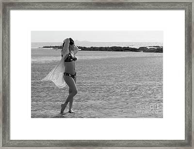 Bikini Girl Framed Print by Kiran Joshi