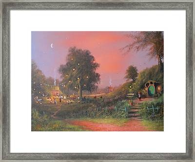 Bilbo's Eleventy-first Birthday Party Framed Print by Joe  Gilronan