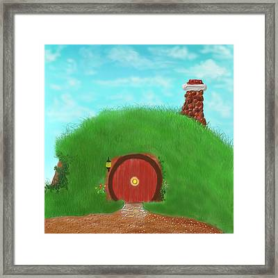 Bilbo's Home In The  Shire Framed Print