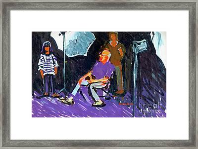Bill And Karena Framed Print