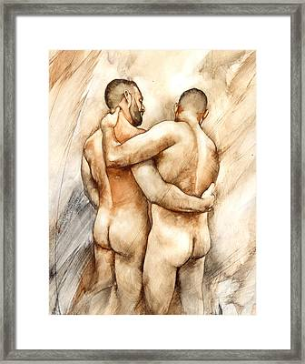 Bill And Mark Framed Print