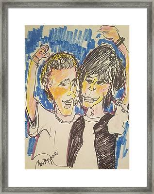 Bill And Ted Excellent Adventure Framed Print by Geraldine Myszenski