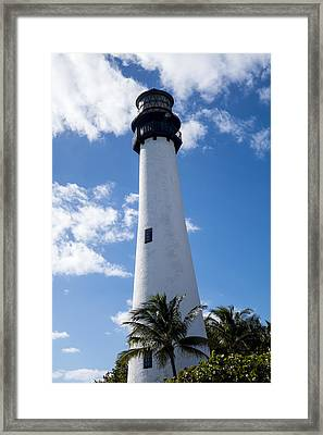 Bill Baggs Lighthouse Cape Florida State Park Palm Trees Framed Print by Toby McGuire