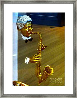 Bill Clinton Saxophone Framed Print