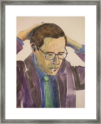 Bill Evans Framed Print by Anita Burgermeister
