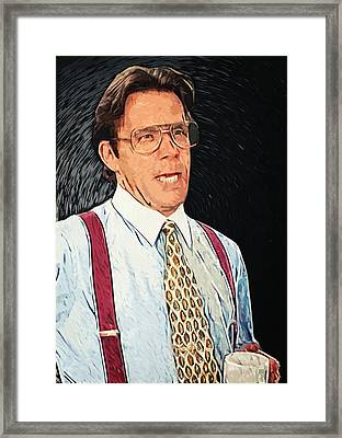 Bill Lumbergh - Office Space Framed Print by Taylan Apukovska