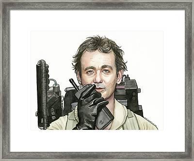 Bill Murray Ghostbusters Peter Venkman Framed Print by Olga Shvartsur