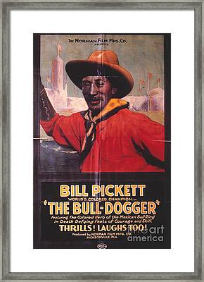 Bill Pickett (1870-1932) Framed Print by Granger