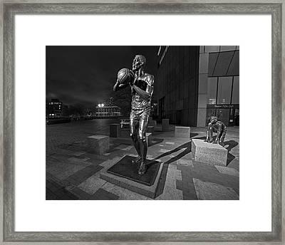 Bill Russell Statue City Hall Plaza Fanueil Hall Boston Ma Fanueil Hall Framed Print by Toby McGuire