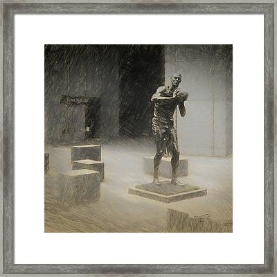 Bill Russell Statue Framed Print