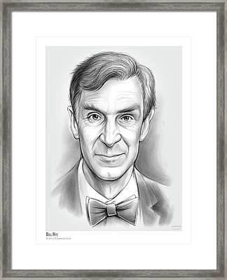 Bill The Science Guy Framed Print