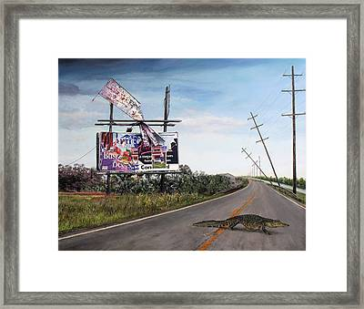 Billboard Thief Framed Print by Richard Barone