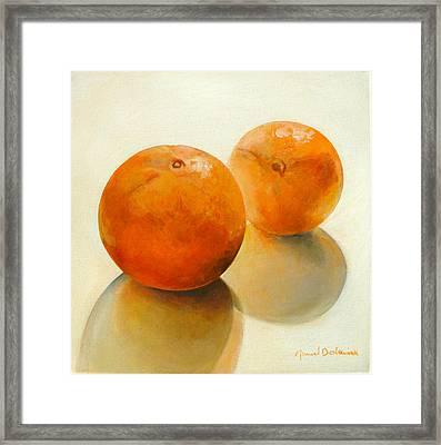 Billes Oranges Framed Print by Muriel Dolemieux