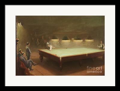 Pool Room Framed Prints