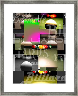 Billiards Framed Print by Andre  Persun