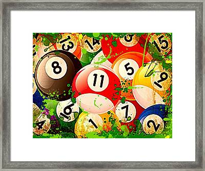 Billiards Collage Framed Print by David G Paul