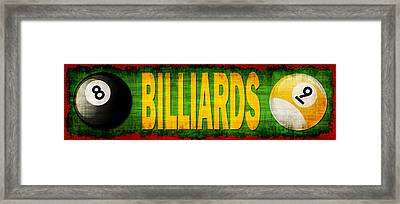 Billiards Framed Print by David G Paul