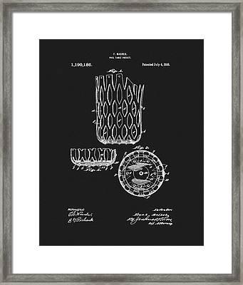 Billiards Table Pocket Patent Framed Print