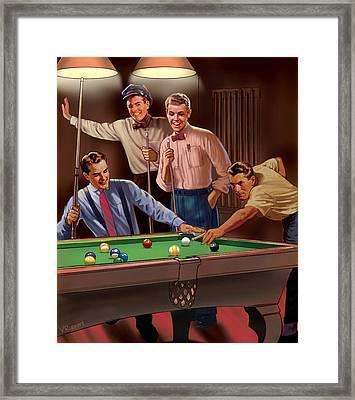 Billiards Framed Print by Valer Ian