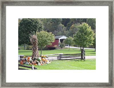 Billie Creek Bridge Framed Print by Jeff VanDyke