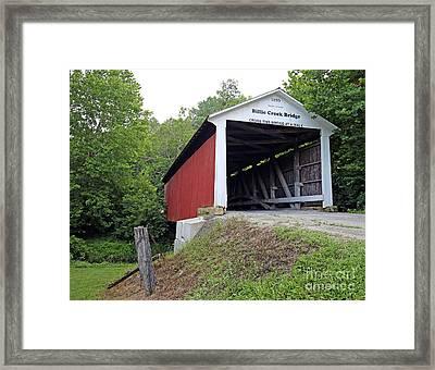 Billie Creek Covered Bridge Framed Print