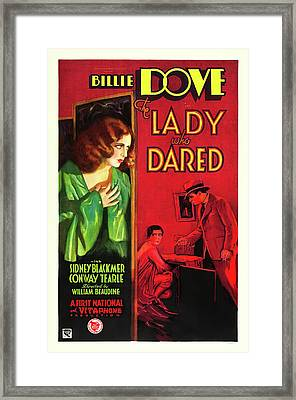 Billie Dove In The Lady Who Dared 1931 Framed Print by Mountain Dreams