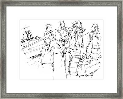 Billie Holiday Band Awesome Jazz Singer Framed Print
