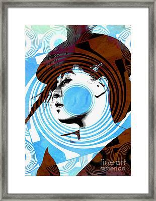 Billie Holiday Blues Singer - Pop Art Framed Print