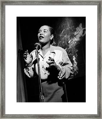 Billie Holiday  New York City Circa 1948 Framed Print by David Lee Guss