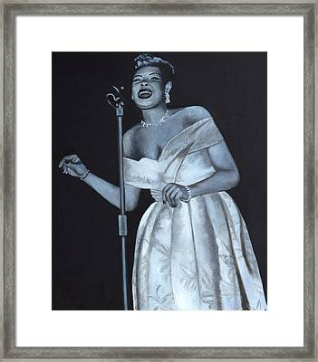 Billie Holiday Framed Print by Patrick Kelly