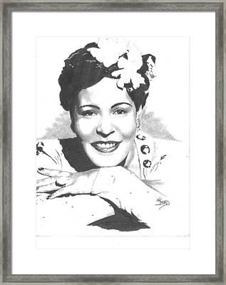 Billie Holiday Framed Print by Van Beard