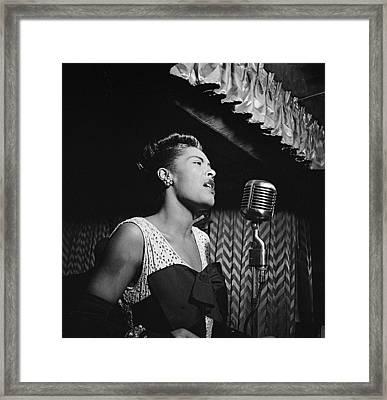 Billie Holiday William Gottlieb Photo New York City 1947 Framed Print