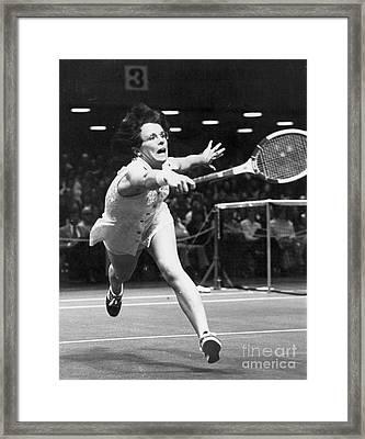 Billie Jean King Framed Print by Granger