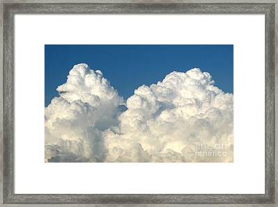 Framed Print featuring the photograph Billowing Clouds 1 by Rose Santuci-Sofranko