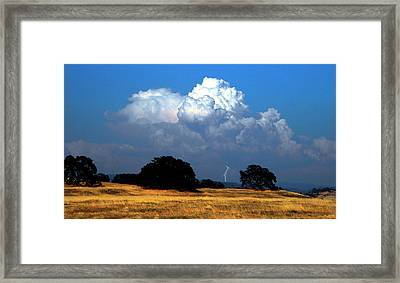Billowing Thunderhead Framed Print by Frank Wilson