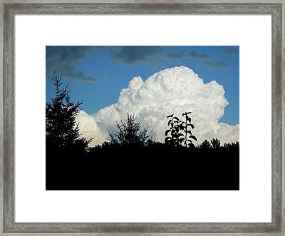 Billowy Storm Clouds Framed Print by Randy Rosenberger