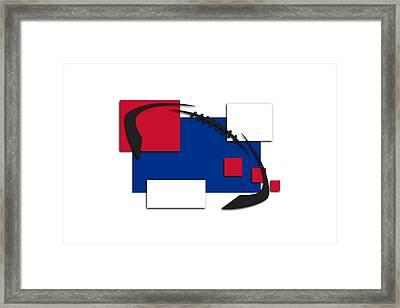 Bills Abstract Shirt Framed Print