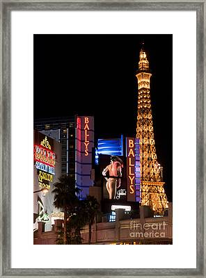 Bills Ballys And Paris Framed Print by Andy Smy