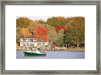 Bill's Green Downeaster Framed Print by Alice Gipson
