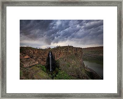 Framed Print featuring the photograph Billy Chinook Falls by Cat Connor