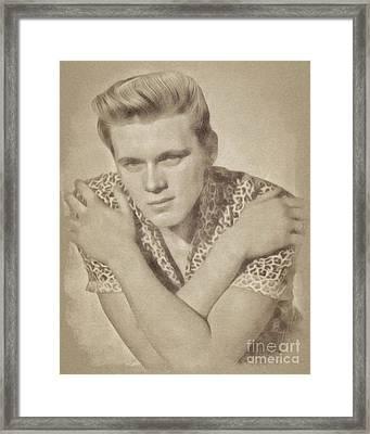 Billy Fury, Music Legend By John Springfield Framed Print
