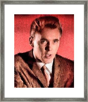 Billy Fury, Singer Framed Print