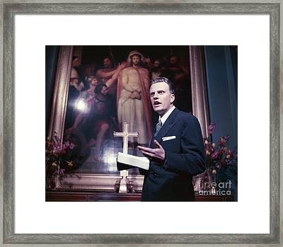 Billy Graham Jr. Framed Print by The Harrington Collection