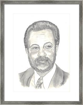 Billy Joel Portrait Framed Print by Carol Wisniewski